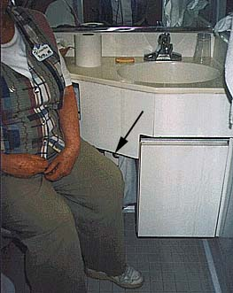 picture of cruise ship passenger on the pot (with clothes on)