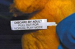 (DISCARD BY ADULT - PULL OUT FOR NORMAL PLAY MODE)